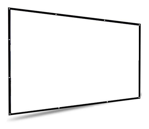 Pantalla Para Proyector Portatil 120 Pulgadas 16:9 Proyección Trasera Y Frontal Cine En Casa Exposiciones Videojuegos