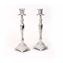 Candeleros De Shabat Con Diseño De Filigrana
