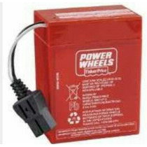 Pila Recargable Power Wheels De 6 Volts