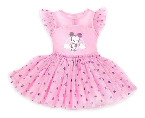 Disney Store Vestido Mimi Rosa Bebe 6 9meses En Venta En