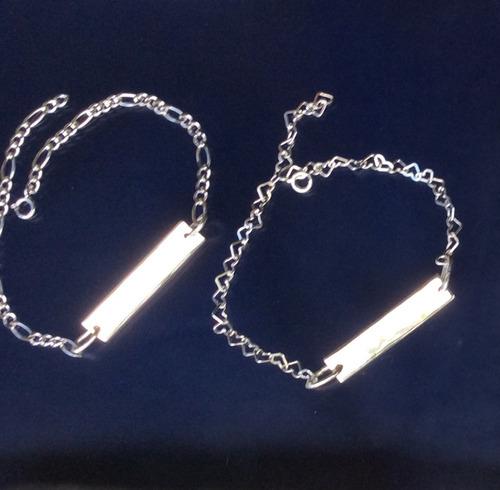 d5b92823e98d Personalizada Par De Pulsera Corazón Esclava Pareja Plata en venta en  Naucalpan Estado De México por sólo   950