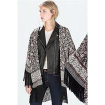 Suku 20968 Kimono Bordado Con Flecos Moda Japón $1029