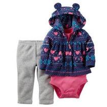 Conjunto De Invierno Para Bebe Azul Y Rosa