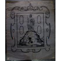 Dibujo A Tinta Escudo De San Luis Potosí Firmado
