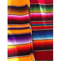 Saltillo Sarape Cobija Individual Artesanía Mexicana