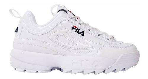 apariencia estética calidad superior bastante baratas Tenis Fila Disruptor 2 Premium Patent Blanco 5fm00542-125 en ...