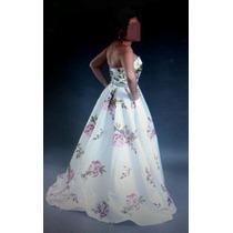 Vestido De Fiesta Talla 6-7 Una Puesta Hermoso Largo Elegant