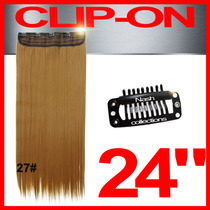 Extensiones Cabello 24 Pulgadas Clip On 100% Fibra Natural