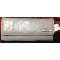 Cartera Big Size Keneth Cole Reaction Gris Plata Animal Prin
