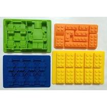 Lego Caramelo Hacer Ice Cube Bandejas 4 Paquete