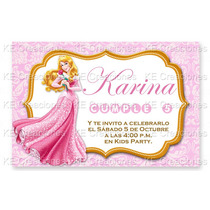 Invitaciones Kit Imprimible Bella Durmiente Princesas Disney