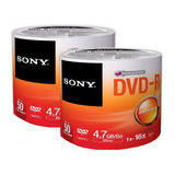 50 Dvd Sony Virgen  Logo 16x 4.7gb Precio Facturado Full