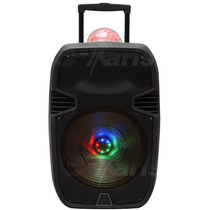 Bafle Recargable 15 In Con Bluetooth Esfera Disco Y Leds Rgb