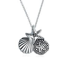 Bling Jewelry De Plata Del Dólar De Arena De Mar Seashell C