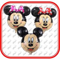 6 Globos Mickey Y Minnie Mouse De 64cm*61cmcumpleaños,fiesta