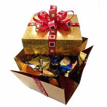 Caja De Chocolates Oro Personalizada