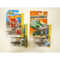 Hot Wheels Lote 4 Camiones 3 Fast Bed & Agua King Matchbox