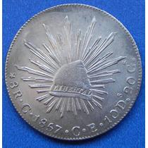 Moneda 8 R Culiacan 1857 Ce Excelente Pieza Escasa
