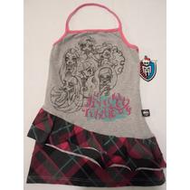 Blusa Tipo Bluson Para Niña Monster High 6 Años Hm4