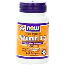 Now Foods Vitamina D-3 Soporte Estructural 2.000 Ui 240 Cáps