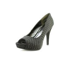 Rampage Dame Peep Toe Textiles Bombas Tacones Zapatos