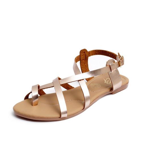 venta caliente online 818d7 9b2b7 Zapatos Sandalias Huaraches Dama Zapatillas Moda Oro 1203 en ...
