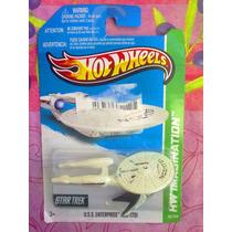 Hot Wheels Nave Star Trek Blanca Uss Enterprise Ncc 1701