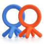 Comotomo Silicona Mordedor Bundle - 2 Artículos: Azul Y Nara