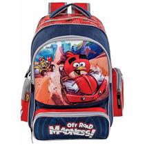 Mochila Back Pack Azul Rojo, Angry Birds, Mk60gd