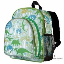 Lonchera En Forma De Mochila Para Niños Verde De Dinosaurios