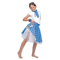 1950s Traje - Kids Blue Rock N Roll De La Falda Del Vestido