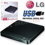 Quemador Dvd Externo Lg Slim Supermuli Usb Negro Gp50nb40