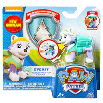 Tb Paw Patrol Action Pack Pup & Badge Everest Toy