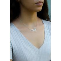 fa1ff28609ba Collar Nombre Personalizado Chapa Oro 22k Plateado Oro Rosa en venta ...