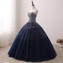 d44382f104 Vestido Xv Años Azul Oscuro Envió Gratis ! Q-180904006 en venta en ...