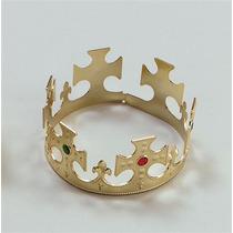 Rey Traje - Oro Plástico Corona Reina Vestido De Lujo De Nu