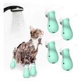 Zapatos De Gato De Silicona Antiarañazos Para Mascotas, Zapa