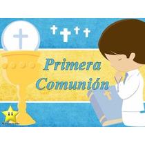 Kit Imprimible Primera Comunion Niño, Invitaciones Y Cajitas