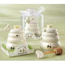 Mieleros De Ceramica Con Cucharita Para Baby Shower, Bautizo