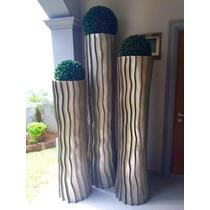 Juego de 3 jarrones contemporaneo en mercado libre m xico for Jarrones decorativos para jardin