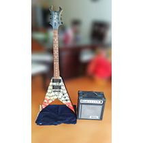 Guitarra Electrica B.c. Rich+amplificador Washburn+soporte