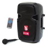 Bafle Kaiser 8 Bocina Recargable Microfono Bluetooth Usb