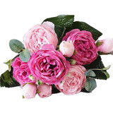 Ramo Rosas Artificiales Decoracion Flores Artificiales