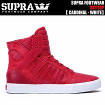 Supra Skytop S18264 De Piel Color, Color Rojo