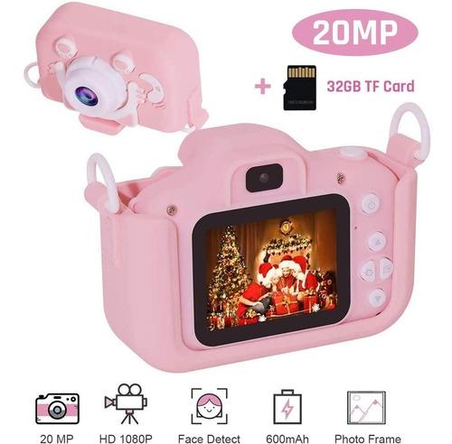 20 Mp Mini Cámara Para Niños 1080p Hd,con 32gb Tarjeta Tf