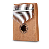Kalimba 17 Teclas Pulgar Piano Caoba Instrumento Musical W-1