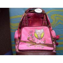 Mochila Grande Con Ruedas **chenson** Happy Owl Escolar
