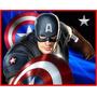 Kit Imprimible Capitan America, Invitaciones Y Cajitas