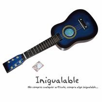 Guitarra Acustica Para Niños Azul