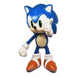Sonic The Hedgehog 30cm Nacional Vinil Suave Articulado Sega